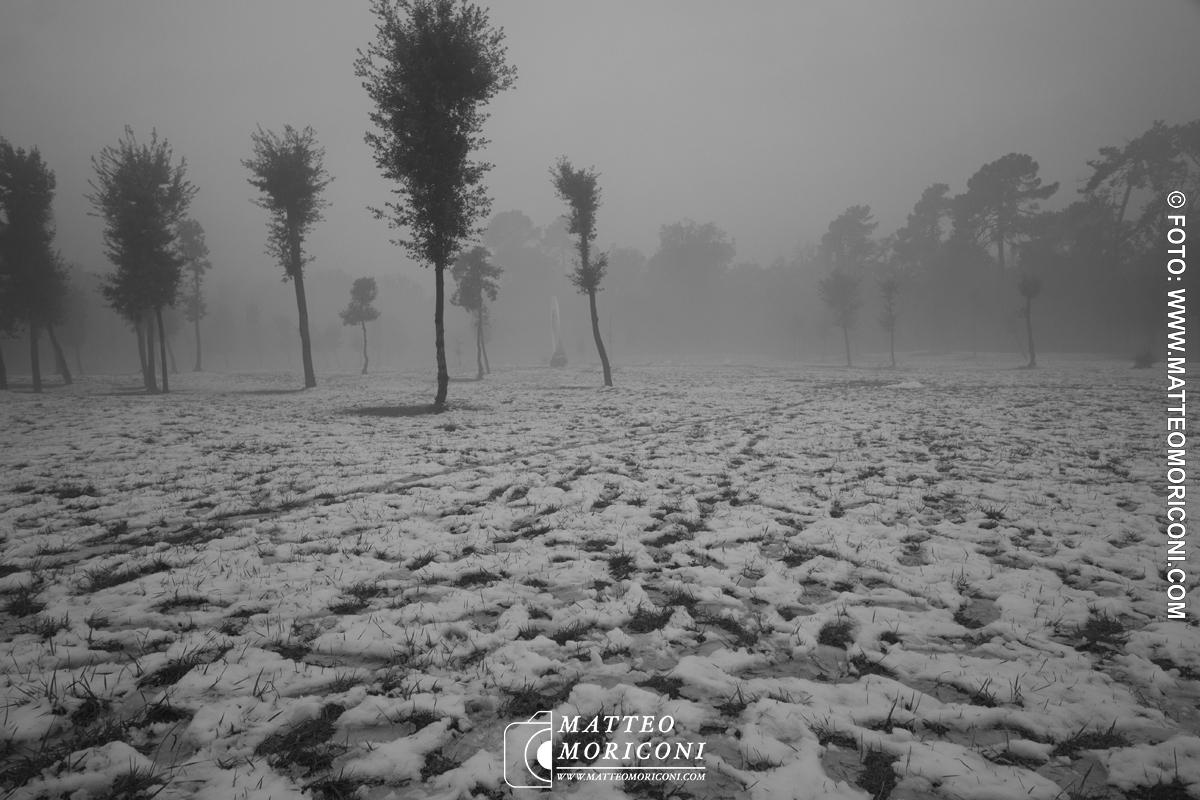 Neve in Versilia - Una serie di scatti in Bianco e Nero // Foto: www.matteomoriconi.com