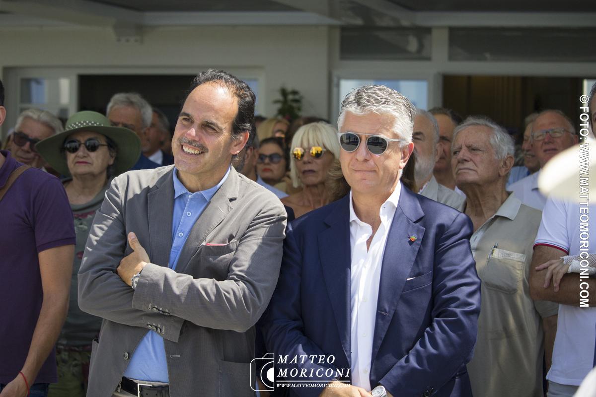 Il senatore Marcucci e il Senatore Mallegni - Inaugurazione a Viareggio del nuovo Principe di Piemonte