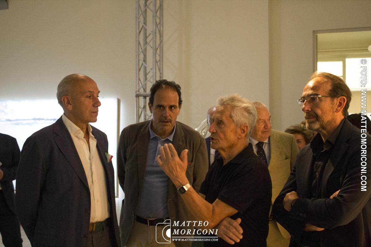 Il Senatore Marcucci, L'artista Vangi e il Senatore Nencini - Inaugurazione a Viareggio del nuovo Principe di Piemonte