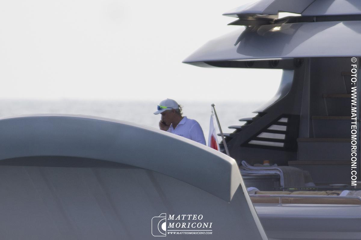 Oleg Tinkov in Barca a Forte dei Marmi