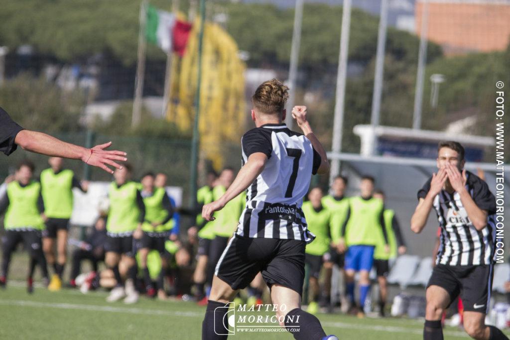 71° VIAREGGIO CUP: Nordsjaelland - Ascoli (15 Marzo 2019) - I festeggiamenti per il Goal del n. 7 Sarli dell'Ascoli