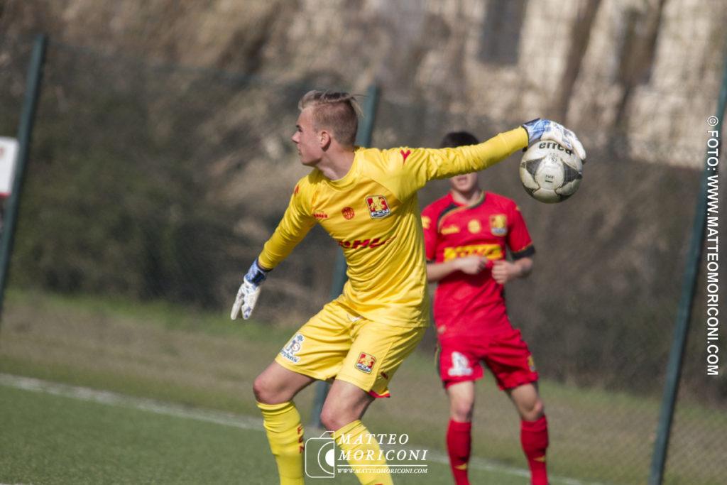 71° VIAREGGIO CUP: Nordsjaelland - Ascoli (15 Marzo 2019) - Il portiere Rasmus From del Nordsjaelland