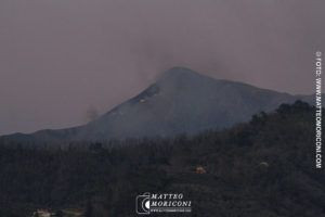 Camaiore: Incendio sul Monte Prana - 21 Marzo 2019
