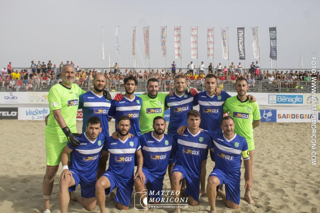 Formazione GLS Due Mari - Serie Aon 2019: Vince il Viareggio Beach Soccer contro GLS Due Mari - Foto: www.matteomoriconi.com