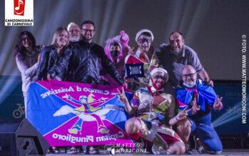 """6° Canzonissima di Carnevale 2021 - i Vincitori del Rione Campo D'aviazione con la canzone """"Vita da Mascherone""""."""